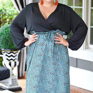 Perfectly Priscilla Black w/ Cheetah dress